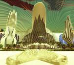 Tak artysta wyobraża sobie miasteczko, które powstanie na Marsie za sto lat