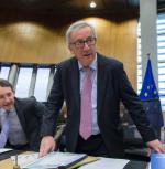 Jean-Claude Juncker wczoraj w siedzibie Komisji Europejskiej w Brukseli, przedpopołudniowym wystąpieniem w Parlamencie Europejskim.