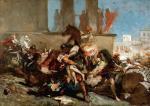 """""""Porwanie Sabinek"""" – Eugene Delacroix. Jeden z najważniejszych obrazów w Pieskowej Skale."""