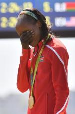 Jemima Sumgong ma dziś zupełnie inne niż po zwycięstwie w Rio powody do płaczu.