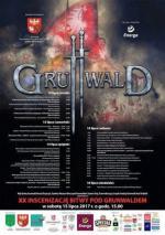 Plakat z programem tegorocznych Dni Grunwaldu.