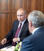 Władimir Putin i przywódca Abchazji Raul Chadżimba
