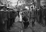 Król Jerzy z małżonką Olgą w Salonikach w 1913 roku. Przeprowadzka królewskiego dworu z Aten miała podkreślić grecką, niepodzielną kontrolę nad miastem.
