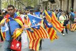 Tuż przed rozpoczęciem Diady małą flagę Katalonii sprzedawano w Barcelonie już za 0,90 euro. Chwilę później całe miasto było w żółto-czerwonych kolorach