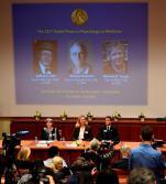 Konferencja prasowa w sztokholmskim Karolinska Institute podczas której przedstawiono nazwiska i dokonanie laureatów
