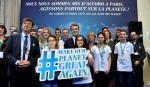 Do Bonn na konferencję klimatyczną COP23 przyjechał m.in. Emmanuel Macron, prezydent Francji (w środku).
