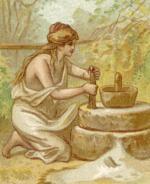 Mielenie ziaren zbóż wżarnach było równie ciężkie jak trening wyczynowych wioślarek