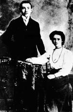 Bolesław Bierut z siostrą Julią. w młodości