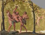 Uprawa winorośli na wiązach była najczęstszym widokiem  w krajobrazie starożytnego Rzymu. Na zdjęciu dzieło Annibale Carracci'ego (1560–1609)