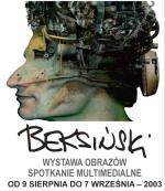 Plakat wystawy Zdzisława Beksińskiego.