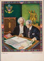 Artur Szyk, pocztówka: Wilson i Paderewski.