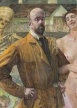 """Jacek Malczewski, autoportret """"Życie i śmierć"""", 1916."""