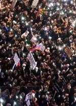 Takich tłumów jak w piątek w Bratysławie w niepodległej Słowacji jeszcze nie było.