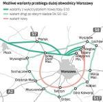 Budowa dużej obwodnicy wokół Warszawy może kosztować nawet kilkanaście miliardów złotych