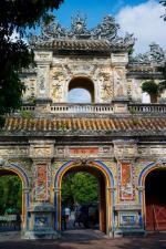 Brama Hiên Nhân w Huê. Była stolica kraju mocno ucierpiała w czasie walk w 1968 r.