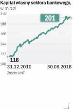Banki mają już ponad 200 mld zł kapitałów