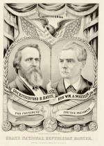 ≥Plakat zkampanii prezydenckiej Rutherforda B. Hayesa