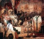 """Formułę o Duchu Świętym, który""""od Ojca pochodzi, z Ojcem i Synem wspólnie odbiera uwielbienie i chwałę, i który mówił przez proroków"""", spisano oficjalnie na Soborze Chalcedońskim. Był to IV sobór powszechny zwołany w 451 roku przez cesarza Marcjana"""