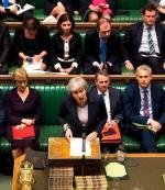 Premier Theresa May prawie codziennie w Izbie Gmin. Na zdjęciu: po kolejnym przegranym głosowaniu 13 marca