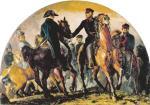Sprzymierzeni książę Wellington i feldmarszałek Gebhard Blücher