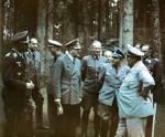 Adolf Hitler, Hermann Göring i inni niemieccy dowódcy w okolicy Wilczego Szańca