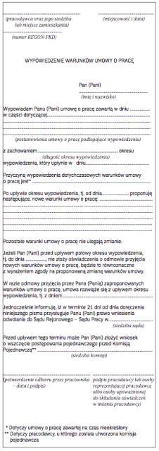 bad8c419adfbff Nowe wzory formularzy pracowniczych - Archiwum Rzeczpospolitej