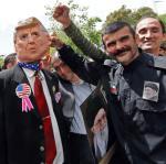 Teheran, demonstracja poparcia dla antyamerykańskiego przywódcy Iranu ajatollaha Ali Chamenei