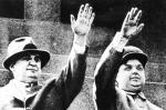 Beria i Malenkow na paradzie w Moskwie na placu Czerwonym (1953 r.)