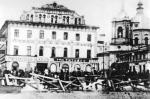 Rewolucja październikowa 1917 roku: barykada na placu Arbackim w Moskwie