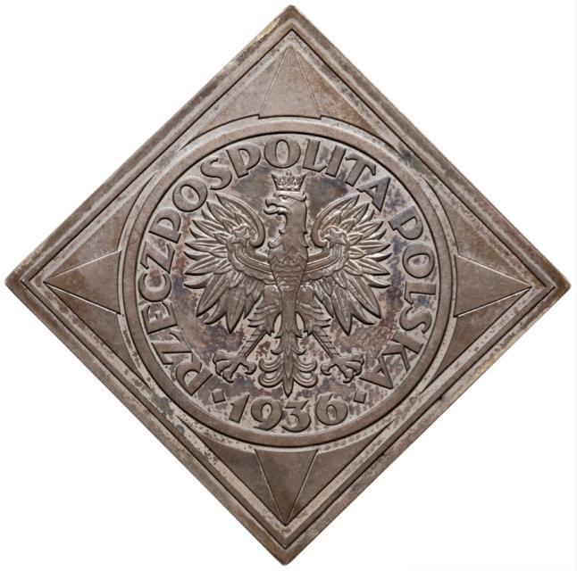 moneta 1936 roku upamiętnia budowę portu w Gdynii