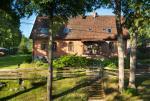 Pensjonat Stara Szkoła nad jeziorem Łaśmiady znajduje się w murach dawnej szkoły pruskiej