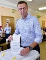 Opozycjonista Aleksiej Nawalny głosuje w niedzielę w Moskwie