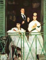 Manet na obrazie uwiecznił Berthe Morisot, Fanny Claus, Léona Leenhoffa i Antoine'a Guillemeta