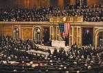 Prezydent Thomas Woodrow Wilson przedstawia w orędziu do Kongresu swoje 14 punktów powojennego planu pokojowego
