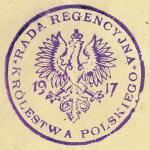 Oficjalny stempel Rady Regencyjnej Królestwa Polskiego