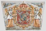 Kopia płyciny z sarkofagu Zygmunta III – kartusz herbowy