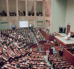 Jan Paweł II  w Sejmie w czerwcu 1999 r.