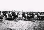 1920. 1. Armia Konna Siemiona Budionnego – mityng zokazji przyjazdu Michaiła Kalinina Rosyjskie Państwowe