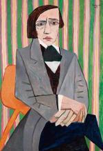 """Wojciech Fangor """"Chopin"""". Obraz  z 1949 roku sprzedano  za 1,3 mln zł."""