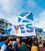 Narasta ryzyko rozpadu Zjednoczonego Królestwa z powodu brexitu. Na zdjęciu: zwolennicy niepodległości Szkocji