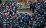 Funkcjonariusze MSW rozpędzili w niedzielę wMińsku demonstrację obrońców memoriału upamiętniającego zamordowanego niedawno przeciwnika reżimu Romana Bondarenkę