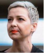 Maryja Kalesnikawa stała się jednym z symboli protestów