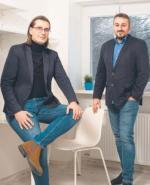Twórcy startupu Rezuro (od lewej Marcin Niewitecki  i Przemek Jurek) pomogą szukać lokum