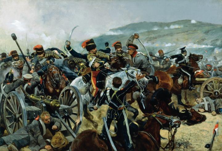 brytyjska lekka brygada atakuje rosyjska bateria pod baa aka awa mal richard caton woodville