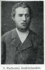 """Pachomij Andriejuszkin (1865 – 1887), nieślubny syn kozaczki ze stanicy Miedwiedkowskiej na Kubaniu. Wyznaczony do roli """"miotacza"""" bomby"""