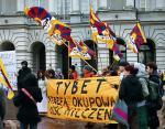 Protestujący chcieli, by politycy mówili o łamaniu praw człowieka