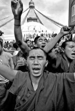 Tybetańczycy manifestowali wczoraj na całym świecie, m.in. w Katmandu, stolicy Nepalu