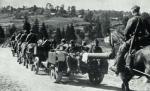Niemieckie działo podczas walk w Beskidach
