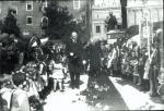 Premier Walery Sławek podczas wizyty w Krakowie