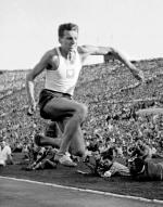 Józef Szmidt, mecz lekkoatletyczny Polska - USA, Stadion X-lecia, Warszawa 1958